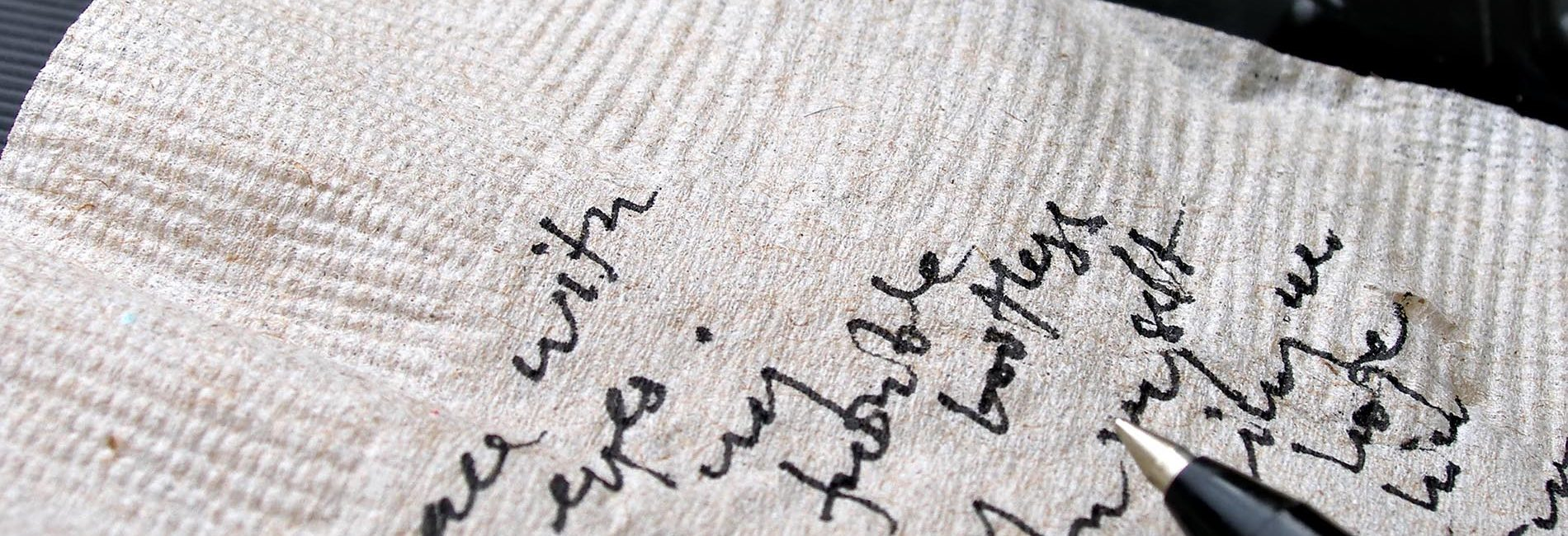 napkin writing